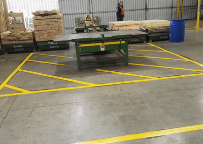 Factory Line Painting, factory line marking